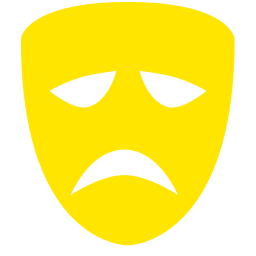 Free Yellow Tragedy Mask Icon Download Yellow Tragedy Mask Icon