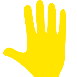 Free Yellow Whole Hand Icon Download Yellow Whole Hand Icon