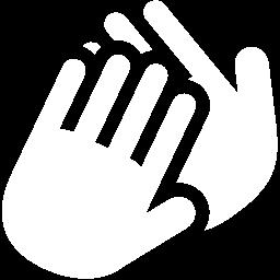 Free White Applause Icon Download White Applause Icon