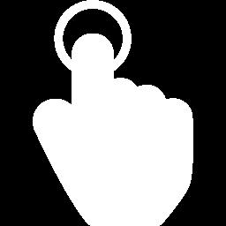Free White Tap 2 Icon Download White Tap 2 Icon