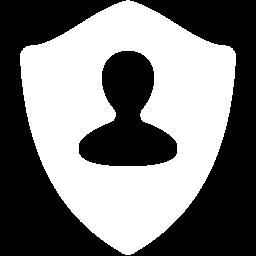 Free White User Shield Icon Download White User Shield Icon