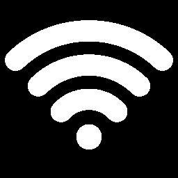Free White Wifi Icon Download White Wifi Icon